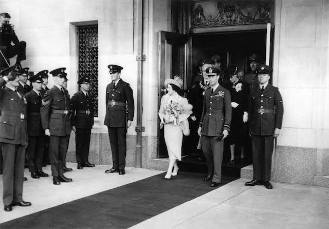 Queen Elizabeth and King George V1 Official Opening Hotel in 1939.