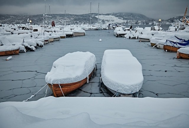 Snow and boats