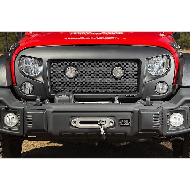6 Jeepers Mantra Spartan Grille with LED lights photo Rugged Ridge.jpg