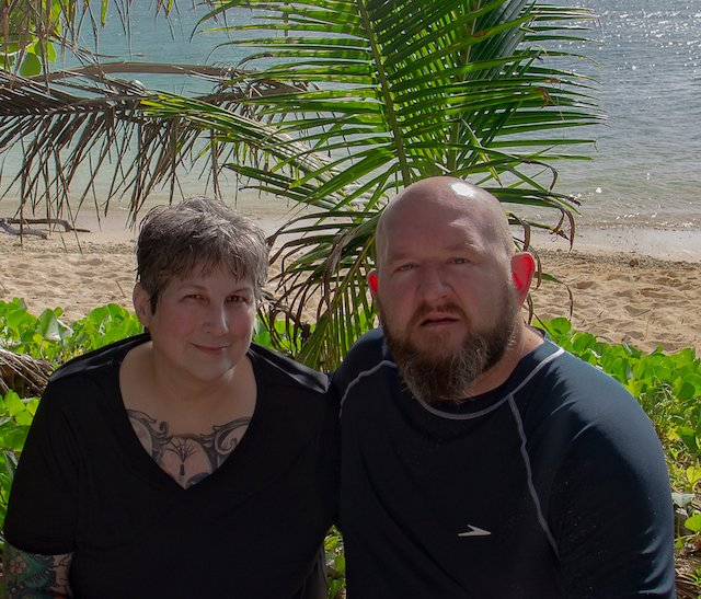 Kim and Jason at beach Guam.jpg