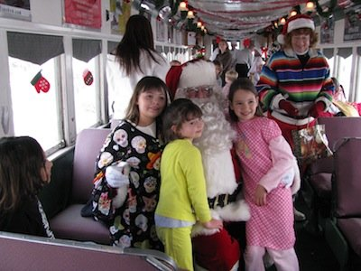 Santa & Mrs Klaus with Kids on Polar Express