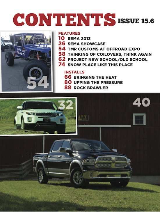 4WD 156 contents