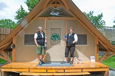 Volunteer hosts welcome campers when they check-in (credit Parks Canada).jpg
