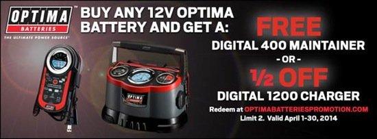 OPTIMA Batteries April Promotion