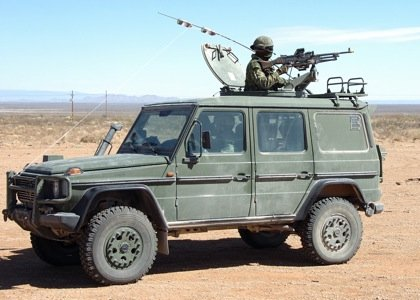 C6 mounted on a G-Wagon