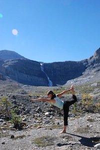 Guided Yoga Hike-Bow Glacier Falls Lake Louise credit Parks Canada LSmith.JPG