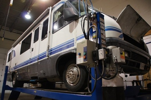 RV in for Maintenace