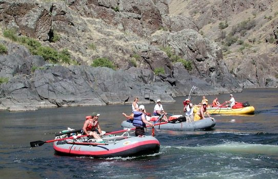 Rafting in Hells Canyon Idaho