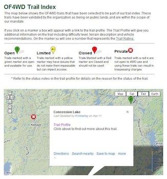 O4WDF Trail Index