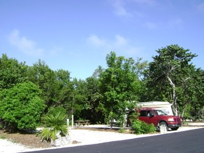 John Pennekamp Coral Reef_Per Kim Chase_campsite with red SUV.JPG