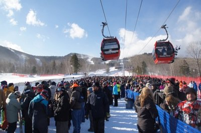 Good crowd out for Redbull Frozen Rush at Sunday River photo Perry Mack.JPG