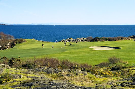 Golfing on Vancouver Island in Winter