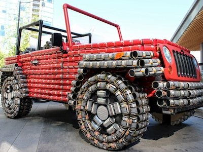 Life-Size 'Canstruction®' of Jeep® Wrangler