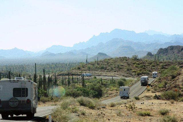 Baja Amigos RV Caravan on the Highway